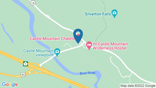 Castle Mountain Chalets Map