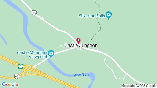 HI-Castle Mountain Hostel Map