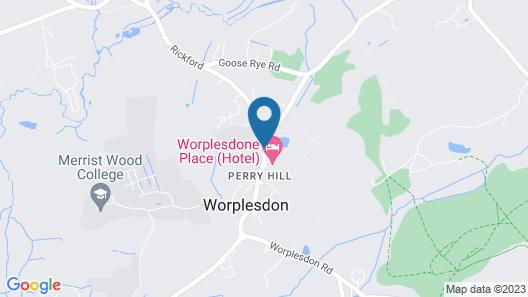 Worplesdon Place Hotel Map
