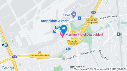 Maritim Hotel Düsseldorf Map
