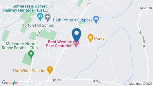 Best Western Plus Centurion Hotel Map