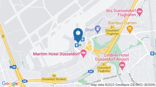 Sheraton Duesseldorf Airport Hotel  Map