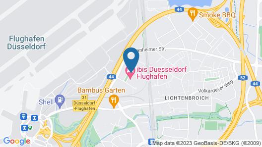 Novotel Duesseldorf Airport Map