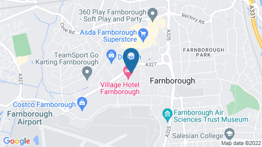 Village Hotel Farnborough Map