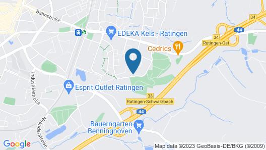 Business Apartments Ratingen 1 Map