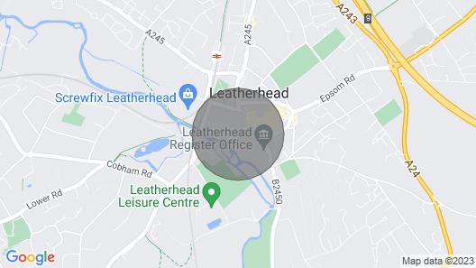 Beautiful Serviced Apartment Leatherhead Ground Floor Map