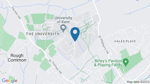 Keynes College-University Of Kent Map