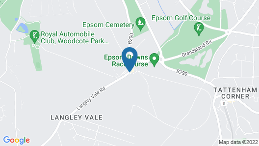 Holiday Inn Express London-Epsom Downs Map