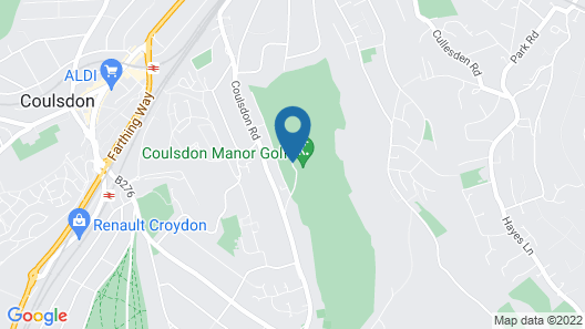 Coulsdon Manor Hotel and Golf Club Map