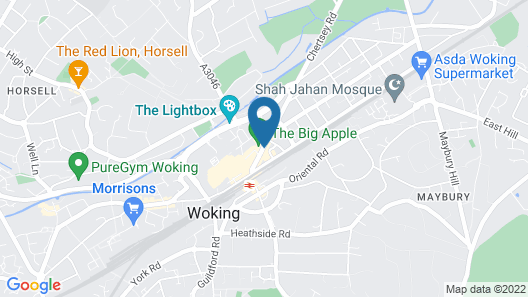Woking Hotel Map