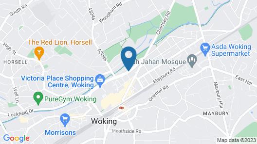 Doubletree by Hilton Hotel Woking Map