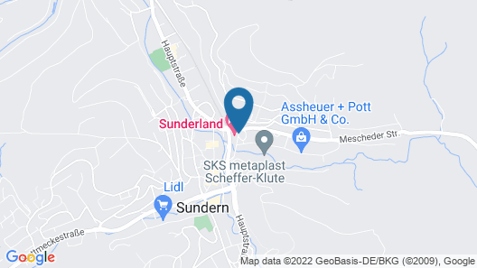 Sunderland Hotel Map