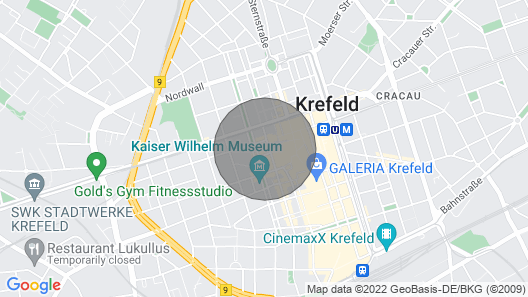 City Apartment Krefeld 20 km DUS Airport / Fair Map