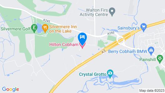 Hilton Cobham Map