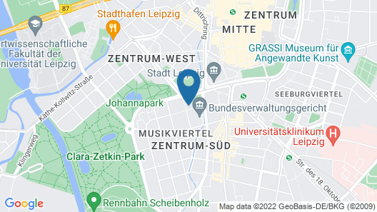 Gästehaus Leipzig Map