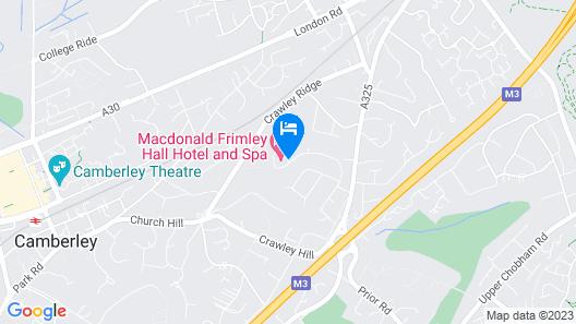 Macdonald Frimley Hall Hotel and Spa Map