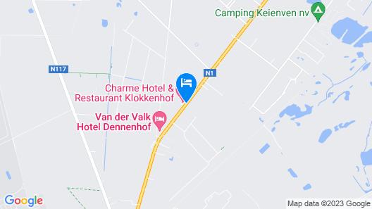 Hotel Klokkenhof Map