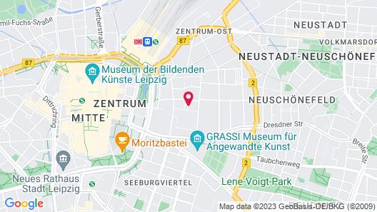 pentahotel Leipzig Map