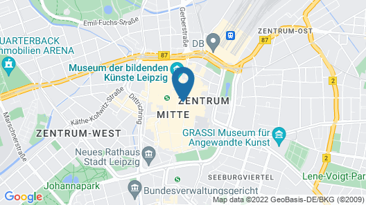 Steigenberger Grandhotel Handelshof Leipzig Map