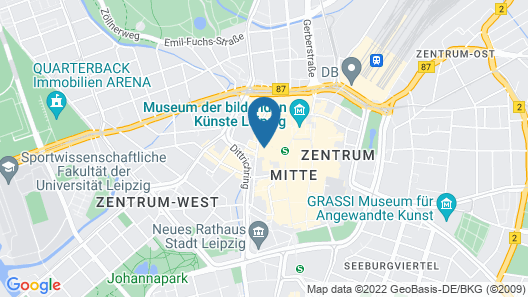 Five Elements Hostel Leipzig Map