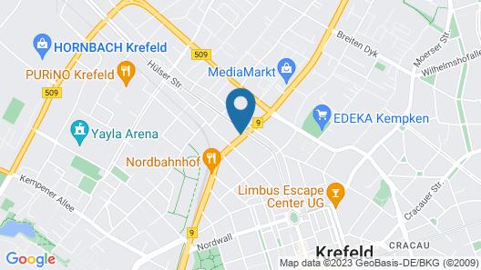 City Apartments near Düsseldorf Airport Map