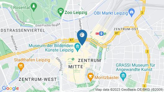 Leipzig Marriott Hotel Map