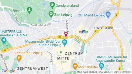 IntercityHotel Leipzig Map