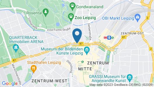 Travel24 Hotel Leipzig-City Map