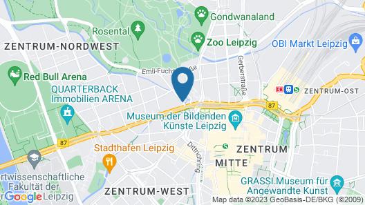 Sleepy Lion Hostel, Youth Hotel & Apartments Leipzig Map