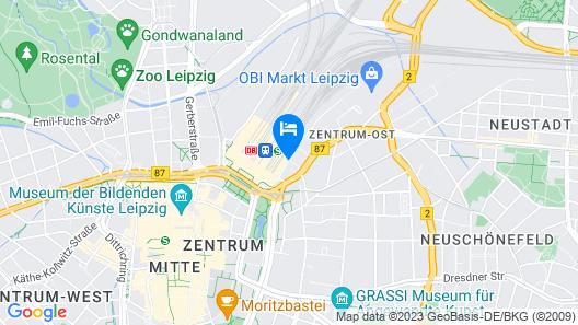 H2 Hotel Leipzig Map