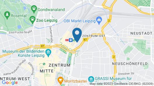 Hyperion Hotel Leipzig Map