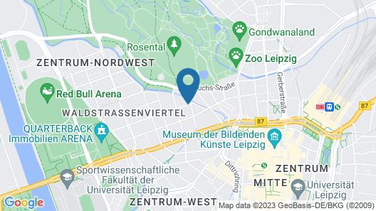 Cora Apartments Leipzig Map