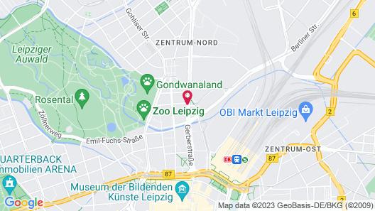 Mercure Hotel Art Leipzig Map