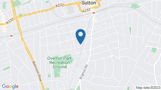 Flexistay Aparthotel Sutton Map