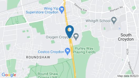 London Croydon Aerodrome Hotel, BW Signature Collection Map