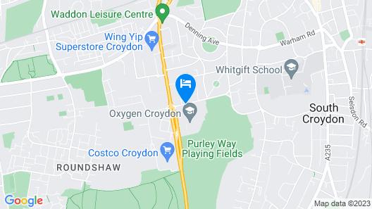 Hilton London Croydon Map