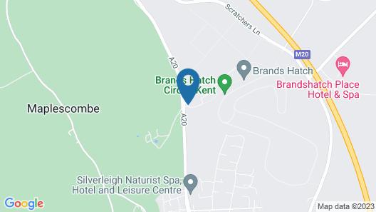 Mercure Dartford Brands Hatch Hotel & Spa Map