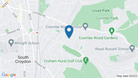Croham Park Bed & Breakfast Map