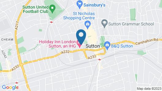 Holiday Inn London - Sutton Map