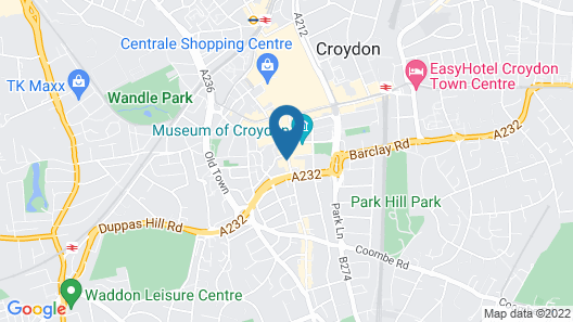 Stunning 1-bed Apartment in Croydon Map