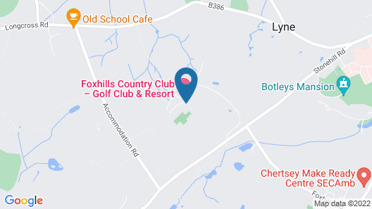 Foxhills Club And Resort Map