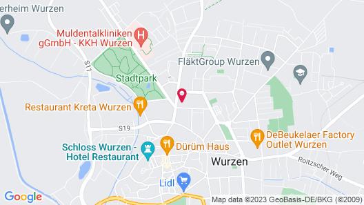 Ringelnatz & Lichtwer Ferienwohnung Wurzen Map