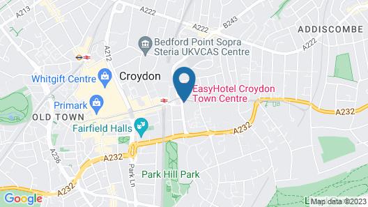 easyHotel London Croydon Map