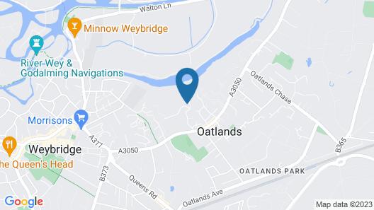 Oatlands Park Hotel Map