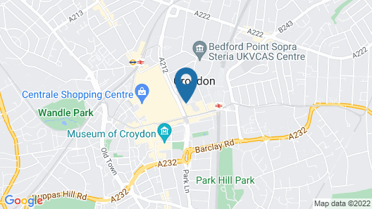 Travelodge Croydon Central Map