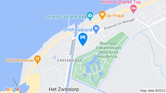 Lovely Holiday Apartment for 2-4 People in Cadzand Just 200 Meters Away From the Beach Map