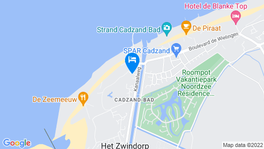 Upscale Apartment in Cadzand-bad Zealand With Seaview Map
