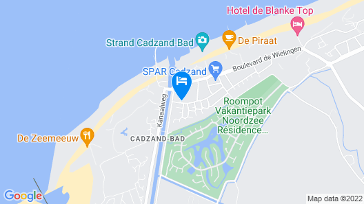Holiday Home for 5 People in Cadzand Only 300 Meters From the Beach Map