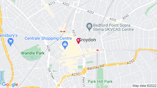 Jurys Inn London Croydon Map