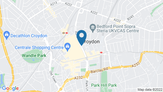 Jurys Inn London Croydon Map